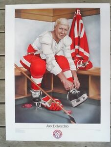 ** ALEX DELVECCHIO DETROIT RED WINGS ~ NHL Original 6 Poster '88