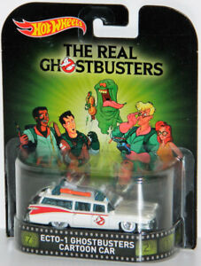 Hot Wheels Retro 1/64 Ecto-1 Ghostbusters Cartoon Car Diecast
