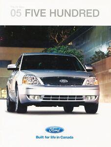 2005 Ford Five Hundred Brochure