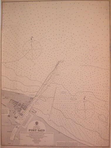 PORT SAID SUEZ CANAL Map LS Dawson 1896
