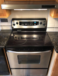 """Kitchen aid stainless steel 30"""" electric glass stove convection"""