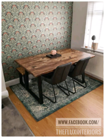 Rustic dining tables and benches made to order reclaimed wood