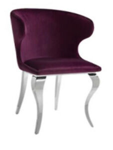 Leather Stainless Steel Dining Chairs on Sale