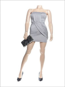Strapless Ruched Silver / Grey Party Dress with Open Back