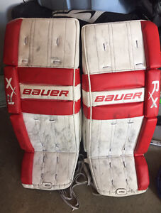 Goalie pads Bauer RX 8 30+1 and other gear avail - negociable