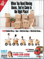 Packing Supplies for your move!  Get Free Tape!