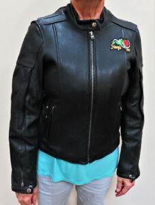 Ladies Heavy Leather Motorcycle Jacket