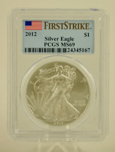 USA First Strike Silver Eagle PCGS MS69 Coin