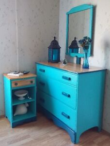 SOLID MAPLE DRESSER AND NIGHT STAND