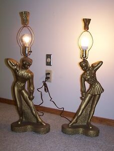 1950's LAMPS,COUPLE FENCING by REGLOR,CALIF.