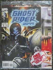 Mint Sealed Comic Book - Ghost Rider 2099 With Poster