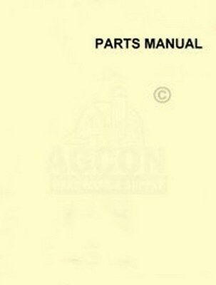 Allis Chalmers Ts-200 Motor Scraper Parts List Manual