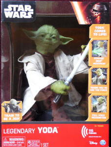 LEGENDARY MASTER YODA UP FOR TRADE OR SALE..GREAT CHRISTMAS GIFT