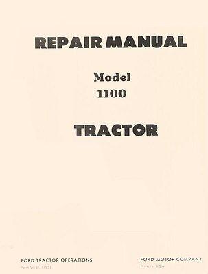 Ford Model 1100 Tractor Service Repair Shop Manual