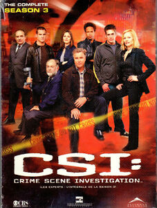 CSI (Las Vegas) complete Season 3 (new in sealed box)