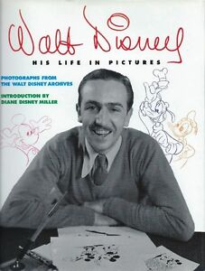 WALT DISNEY – HIS LIFE IN PICTURES HARDCOVER BOOK