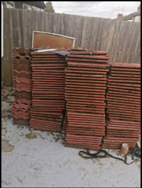 300 red roof tiles