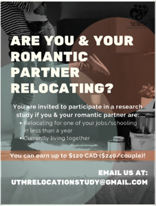 Are you and your partner relocating? Join our study!