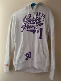 Womens white superdry hoodie
