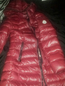 Red Moncler padded Jacket