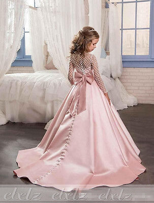 NEW Flower Girls Princess Dress Pageant Ball Gown Party Formal Wedding Birthday