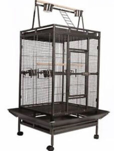 Parrot big cage with play area