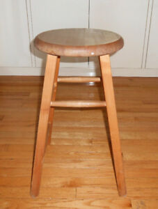 WOODEN STOOL / DIPLAY STAND