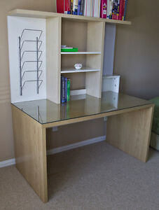 Desk with Glass Table Top