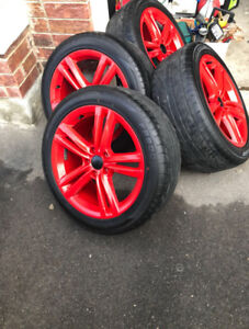 "18"" tires with rims (set of 4)"