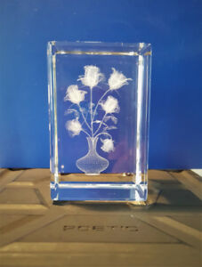 3D Laser Etched Crystal Glass (Heavy)