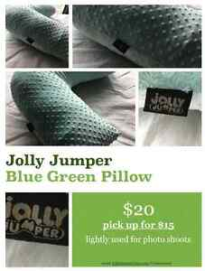 BLUE GREEN JOLLY JUMPER PILLOW Strathcona County Edmonton Area image 1