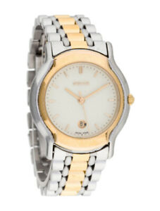 7d363d71776 Vintage Gucci Ladies Watch 8000L Stainless and Gold Sweep Second
