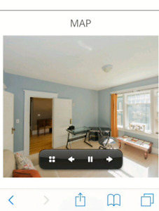 Large bright bedroom for rent downtown available now!