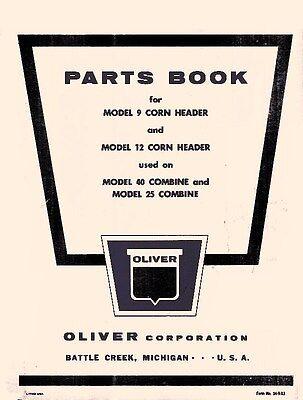 Oliver 9 12 Corn Header 40 25 Combine Operators Manual