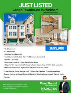 Want House Condo Townhouse in Markham