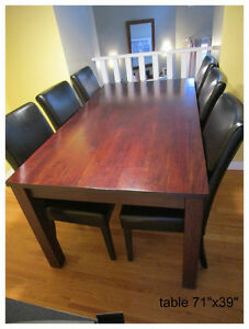GORGEOUS Solid Wood Dining Table and 6 Chairs
