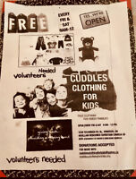 Cuddles free clothing for kids -needy families -