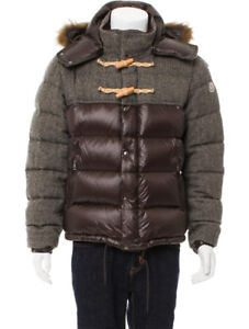 Authentic Moncler Anthime Down Bomber Jacket w/ Coyote Fur Hood