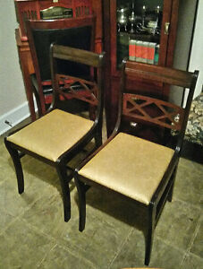 Set of 2 1950's Wood Parlor Chairs