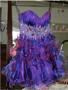 Beautiful Unique Short Formal / Prom Dress - Purple