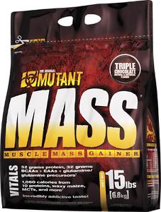 4 x MUTANT MASS PROTEIN POWDER 15 lb bags