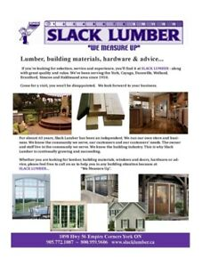 """SLACK LUMBER FALL SALE"" BRAND NEW WINDOWS + DOORS IN STOCK"