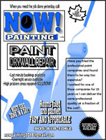 Do you need it painted...like yesterday?