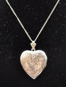 SILVER LOCKET and CHAIN