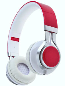 Brand New EB Extra Bass Stereo EP-16 On-ear Wired Red Headphones