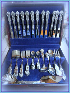 Solid Stainless Steel Cutlery Set - set of 12 w/wood chest