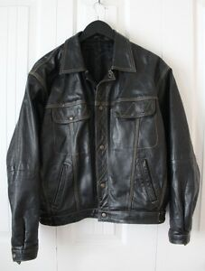 Men's Heavy Black Leather Jacket