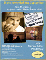 Island Songbook with Michael Pendergast @ Gallery 18 Extended!