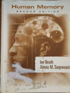 "Textbook ""Human Memory"" Second Edition (Neath, Surprenant)"