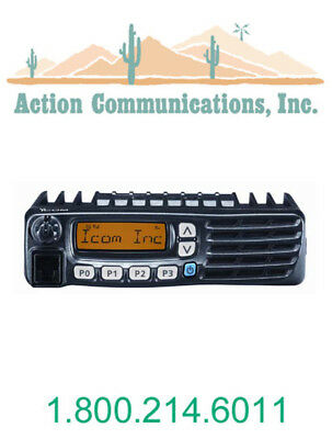 New Icom Ic-f5021-51 Vhf 136-174 Mhz 50 Watt 128 Channel Mobile Two Way Radio